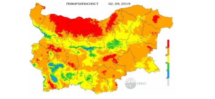 2 сентября пожараопасность в Болгарии