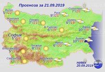 21 сентября погода в Болгарии