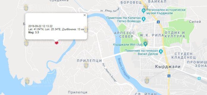 22 сентября землетрясение в Болгарии