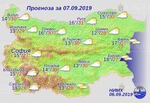 7 сентября погода в Болгарии