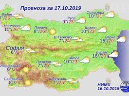17 октября погода в Болгарии