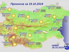 19 октября погода в Болгарии