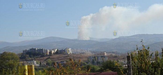 27-е октября пожар в горах Рила
