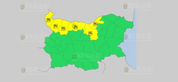 3 октября погода ветреный желтый код в Болгарии