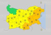 4 октября дождевой и грозовой Оранжевый и Желтый коды в Болгарии
