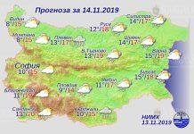 14 ноября погода в Болгарии