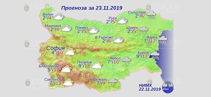 23 ноября погода в Болгарии