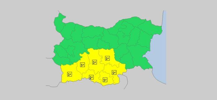 25 ноября Желтый код в Болгарии