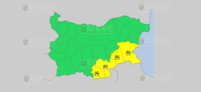 22 декабря Желтый код в Болгарии