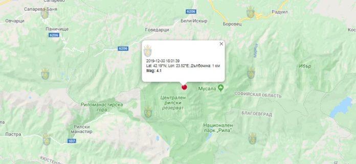 30 декабря землетрясение в Болгарии