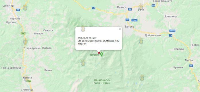 7-е декабря землетрясение в Болгарии