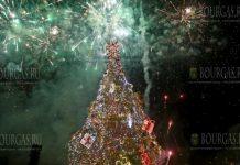 в Болгарии зажгла огни главная елка страны