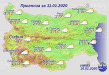 11 января погода в Болгарии