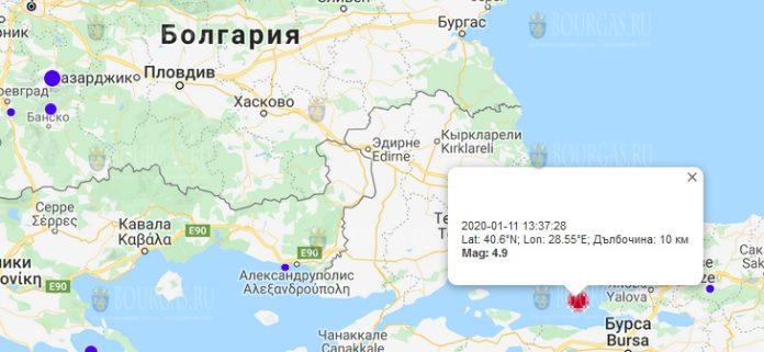 11 янвфаря землетрясение в Болгарии