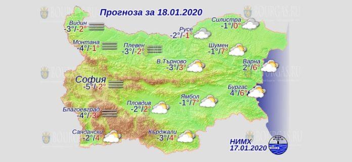 18 января погода в Болгарии