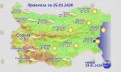 25 января погода в Болгарии