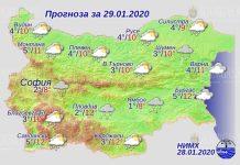 29 января погода в Болгарии