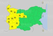 5 января Желтый код в Болгарии
