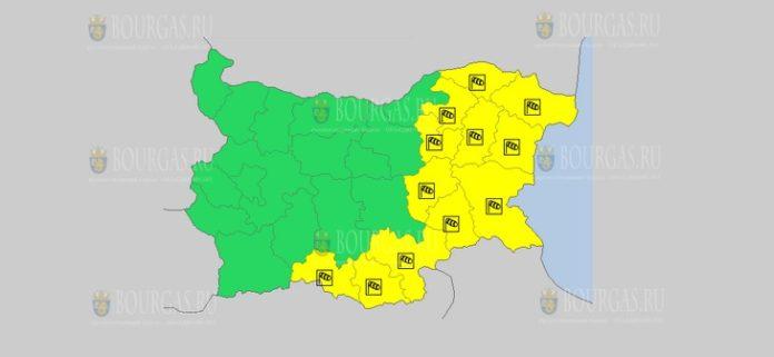 6 января Желтый код в Болгарии