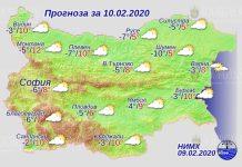 10 февраля погода в Болгарии