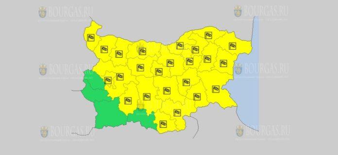 27 февраля Желтый код в Болгарии