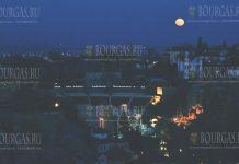 Снежная Супер Луна осветила Пловдив