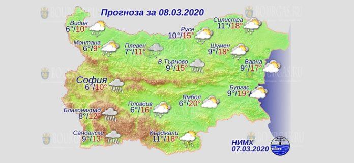 8 марта погода в Болгарии