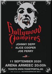 Алис Купер, Джо Перри и Джонни Депп выступят с концертом в Софии