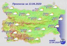 13 апреля погода в Болгарии
