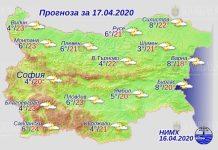 17 апреля погода в Болгарии