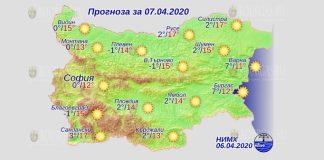 7 апреля погода в Болгарии