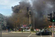 Большой пожар вспыхнул в одном из гипермаркетов Бургаса