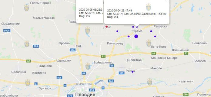 5 мая землетрясение в Болгарии