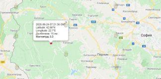 24 июня землетрясение в Болгарии