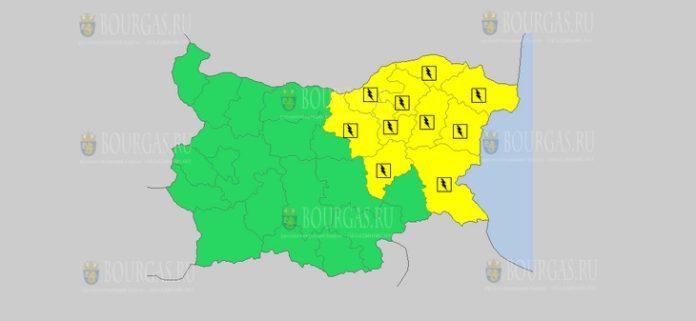 25 июня Желтый код в Болгарии