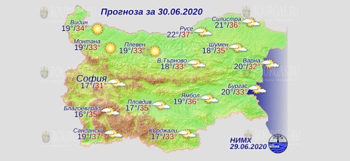 30 июня погода в Болгарии
