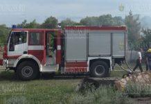 В районе населенного пункта Генерал Тошево - горела пшеница