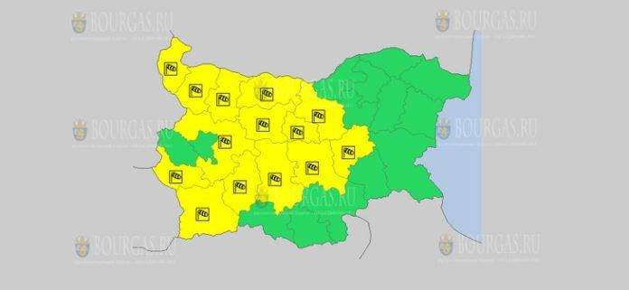 12 июля Желтый код в Болгарии