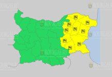 13 июля Желтый код в Болгарии
