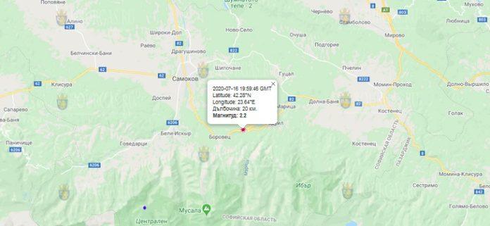 16 июля землетрясение в Болгарии