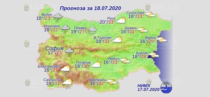 18 июля погода в Болгарии