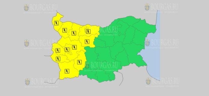 19 июля Желтый код в Болгарии