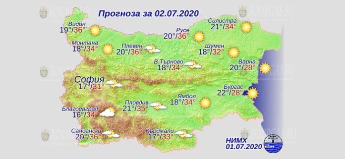 2 июля погода в Болгарии