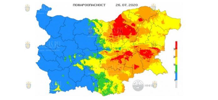 26 июля пожароопасность в Болгарии