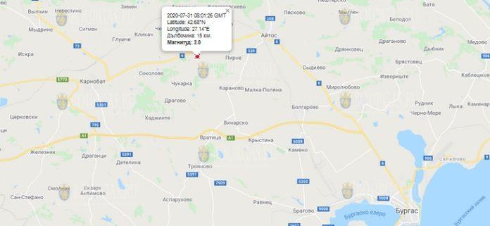 31 июля землетрясение в Болгарии