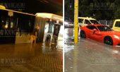 Буря в Софии «утопил» Ferrari