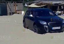 На пляж в Шкорпиловци снова заехал автомобиль