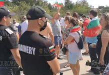 протесты на пляже Росенец в Бургасе