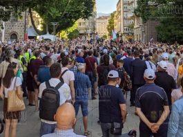 протесты в Софии июль 2020 года