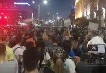 В Софии во время акции протеста был ранен полицейский